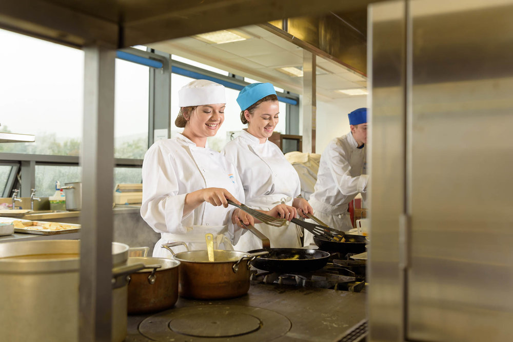 School Prospectus Photography - trainee chefs in a kitchen