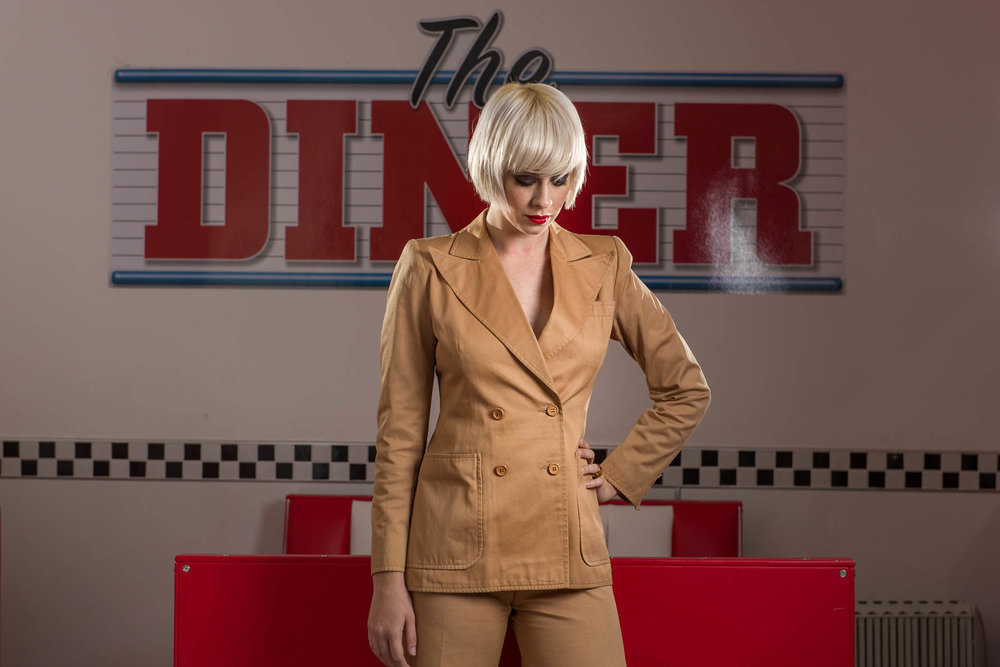 A fashion shoot for Madam Popoff in The Diner, Margate. Our fabulous model is Abigail Jones