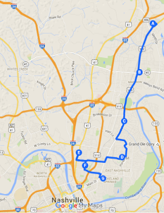 Route #1: Madison / Gallatin Pike