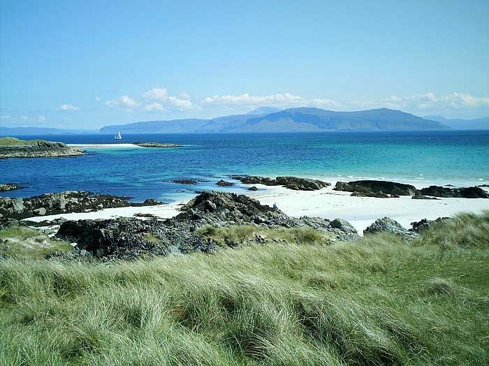 Iona is a tiny island off the southwest coast of Mull in the Inner Hebrides. It is only 1.5 miles wide by 3 miles long, with a population of around 120 permanent residents. Despite this, Iona has a special place in the heart of many people the world over.  Go to http://www.welcometoiona.com