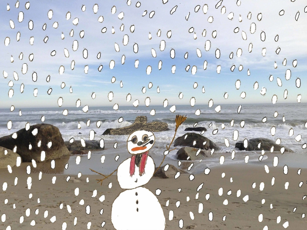 Snowman at Lucy Vincent Beach