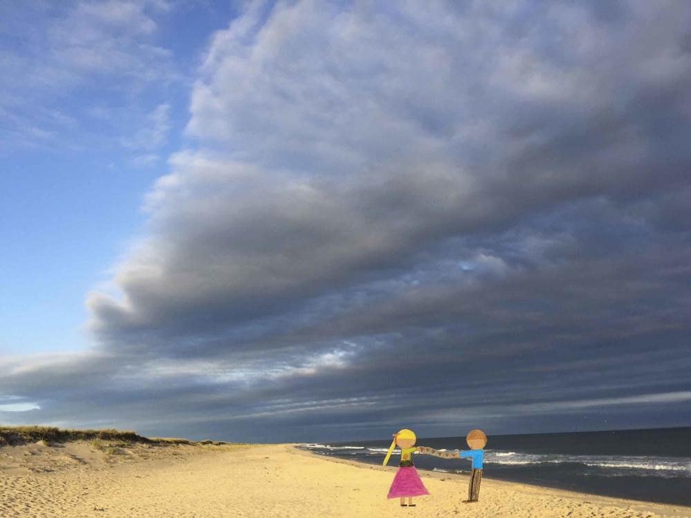 Cloudy Beach Couple
