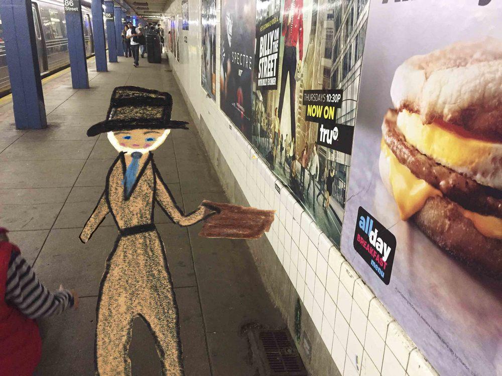 Subway Businessman