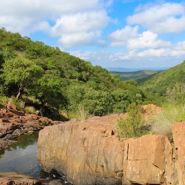 We hiked through this amazing gorge in the Waterberg ⁣🌱 ⁣ #adventuretime #roadtrip #drive #driving #travelblog #travel #instatravel #southafrica #camping #limpopo #waterberg #travelphotography #travel #wildswimming  #wilderness #hiking