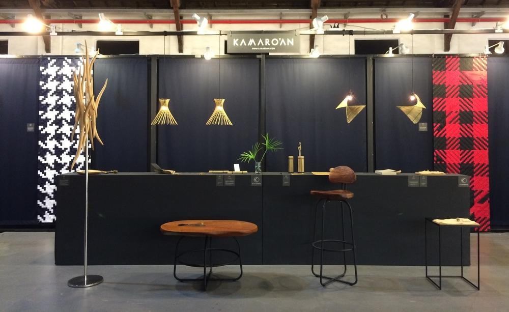 今年10月Kamaro'an在台灣設計師週的簡約深色系展場。