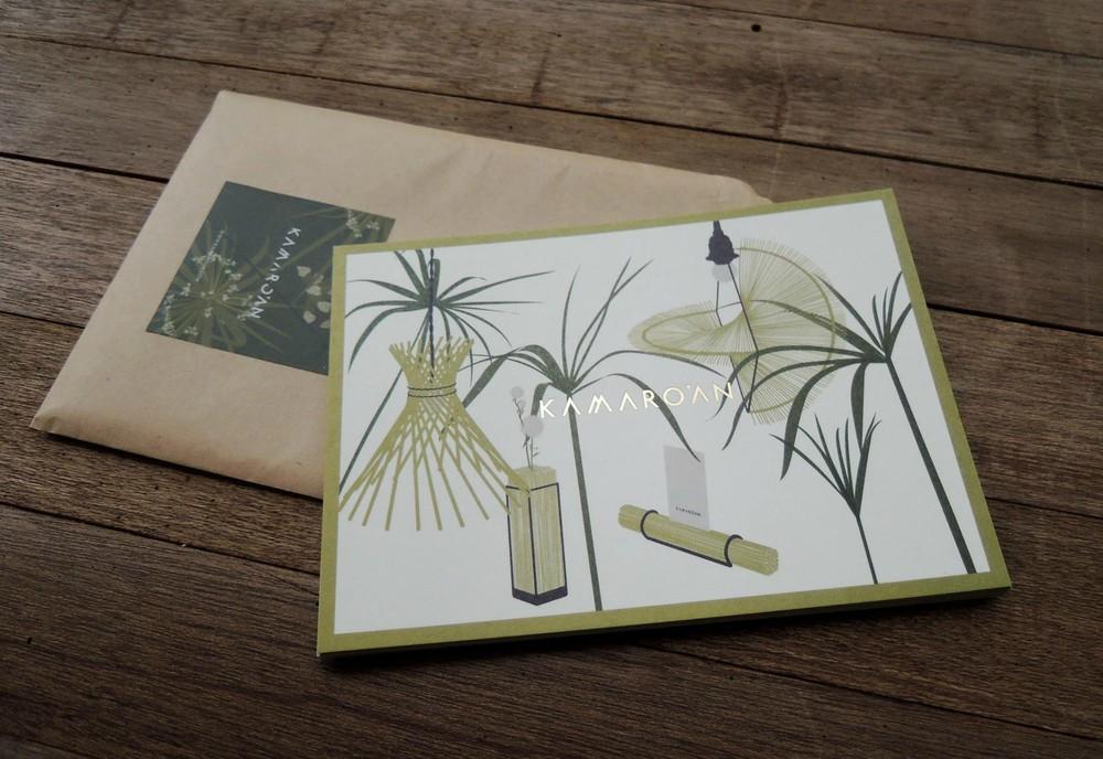 輪傘草燙金卡片與貼紙