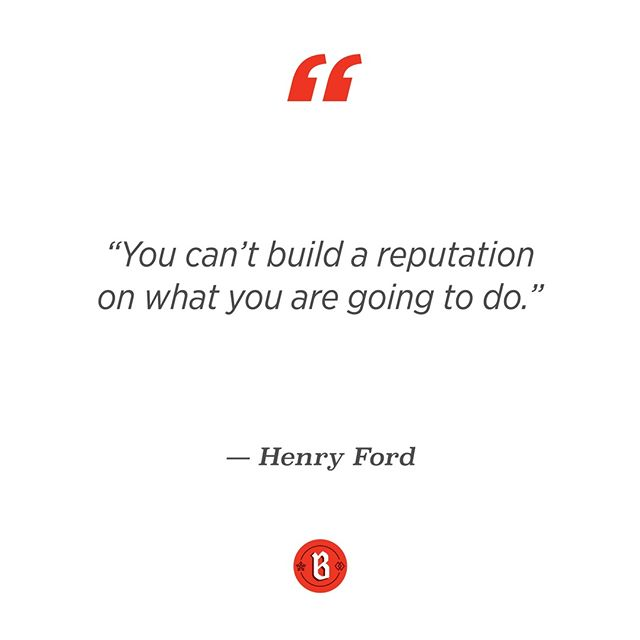 Unless your goal is to look like a fake, a crucial part of building you brand's reputation is by keeping your word! If you say you're going to do something, then do it.⠀ .⠀ Promise and deliver.⠀ .⠀ .⠀ .⠀ #brandtrust #identity #branding #promiseanddeliver #henryford #quote #brandpromise #keepyourword #honesty