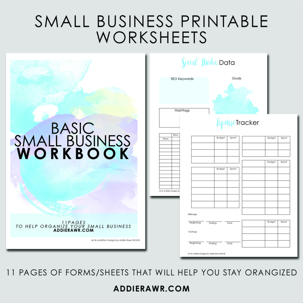 Purchase my Small Business Workbook today to help manage your business.