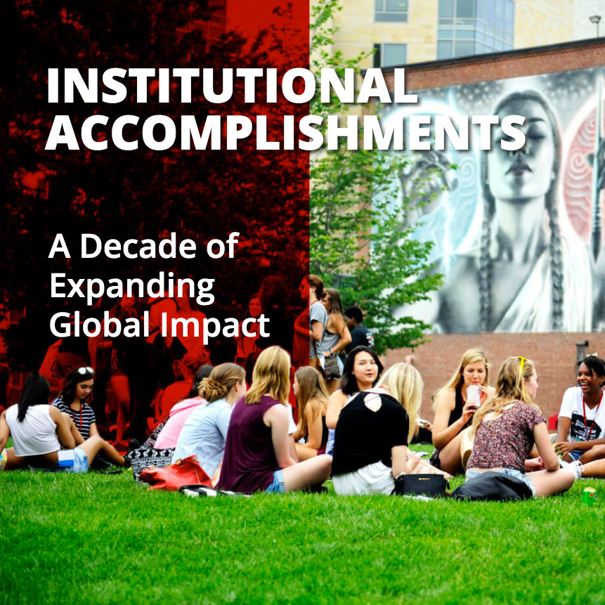 Northeastern University's Institutional Accomplishments; UI  and visual design