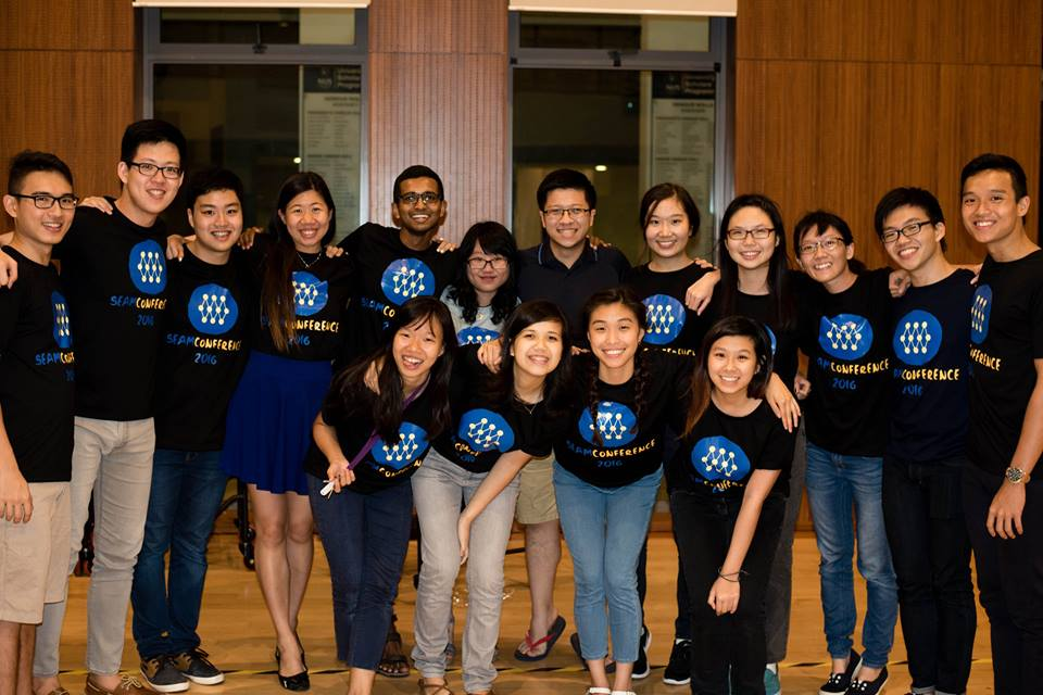 SEAMconference 2016 organizing team, with university students from both the NUS University Scholars Program and the Yale Student Southeast Asian Movement