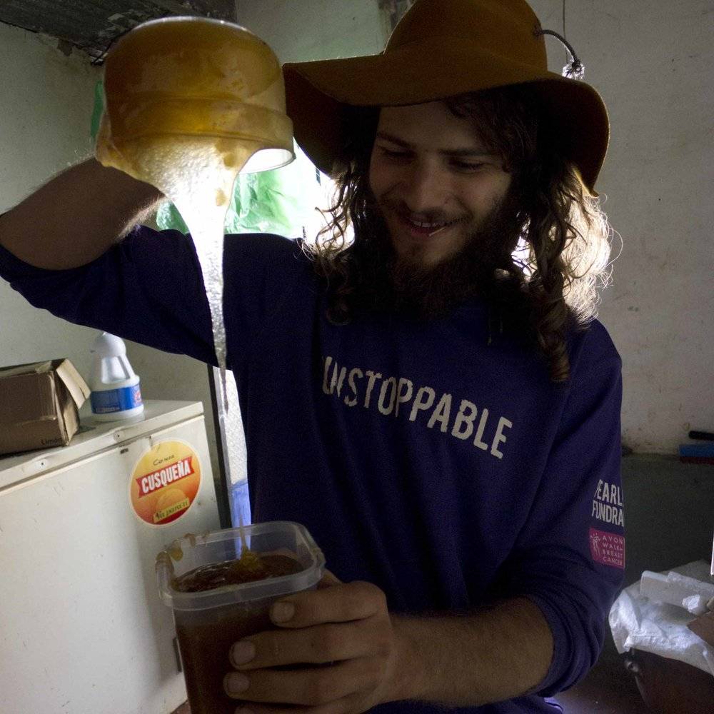 Mateo Pouring Honey