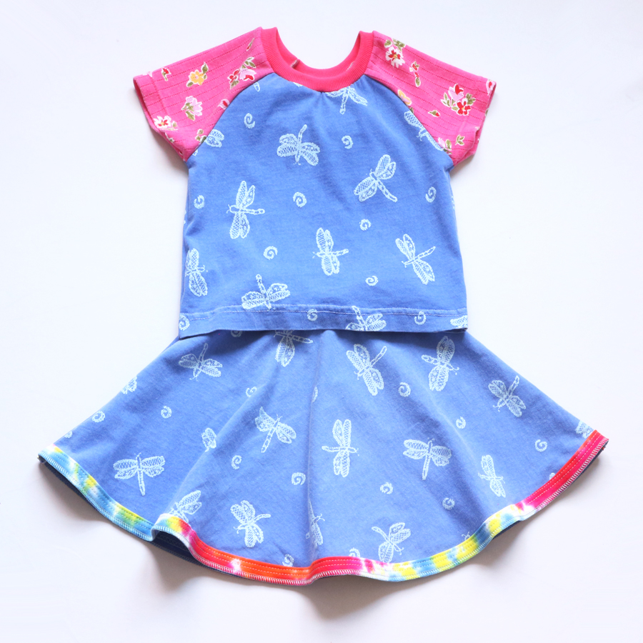 overlap 5T dragonfly:blue:pink:floral:ss:skirt:set.jpg