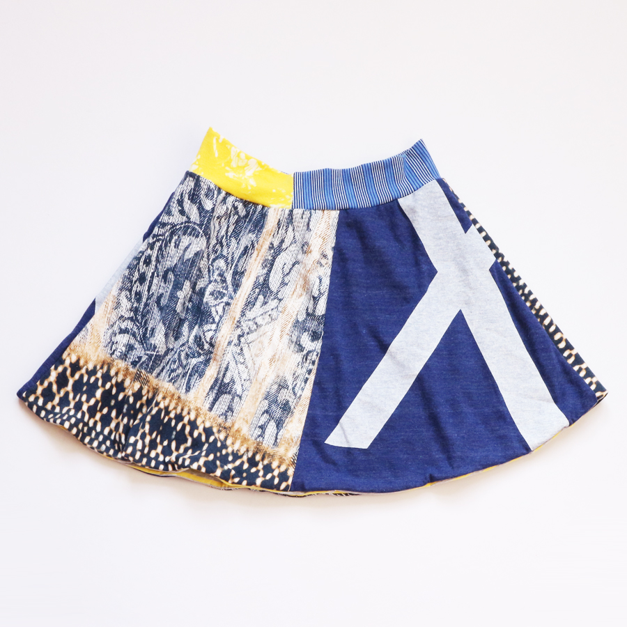 10 blackbird:X:navy:yellow:lined:skirt .jpg