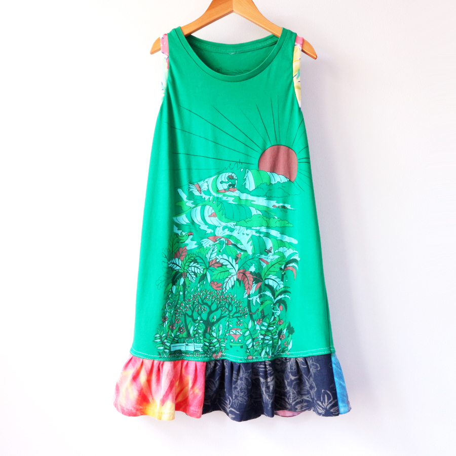 ⅚ surfers:paradise:green:gather:tank:dress.jpg