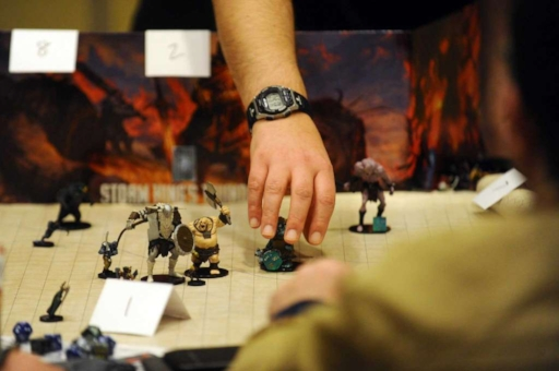 Photo: Michael Cummo / Hearst Connecticut Media    Walter Streigle leads the role playing game Storm King's Thunder during the third day of ConnCon Falcon 2016, a fantasy board, card and role playing game conference inside the Stamford Marriott hotel in Stamford, Conn. on Sunday, Oct. 30, 2016.