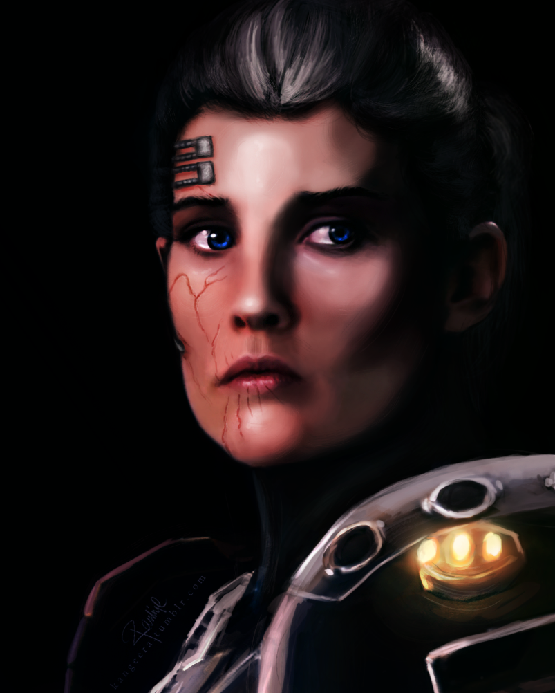 I don't draw self portraits, per say, but here! This is my first character I made in SWTOR, Calaghan!