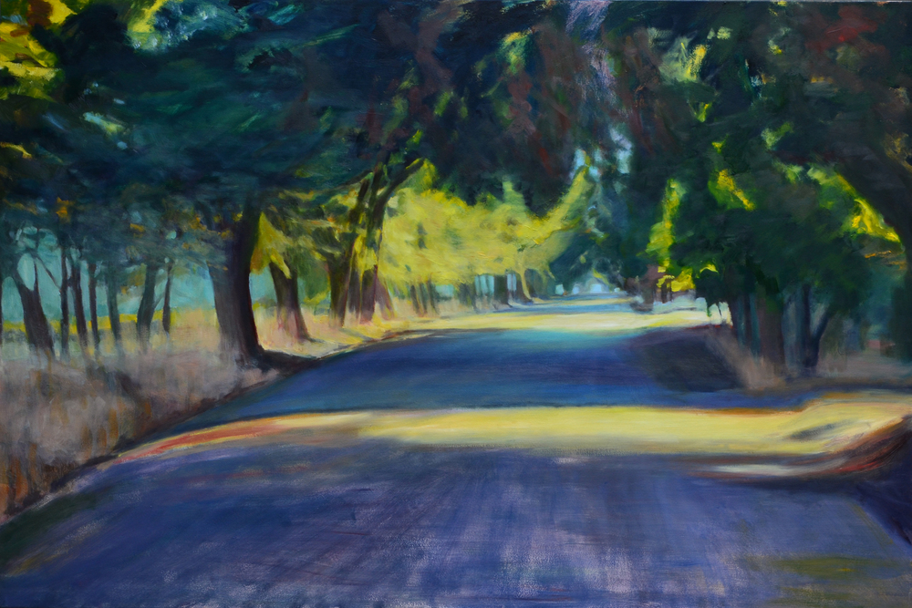 County Road. 2 014, Oil on Panel, 48 x 72 inches. sold.
