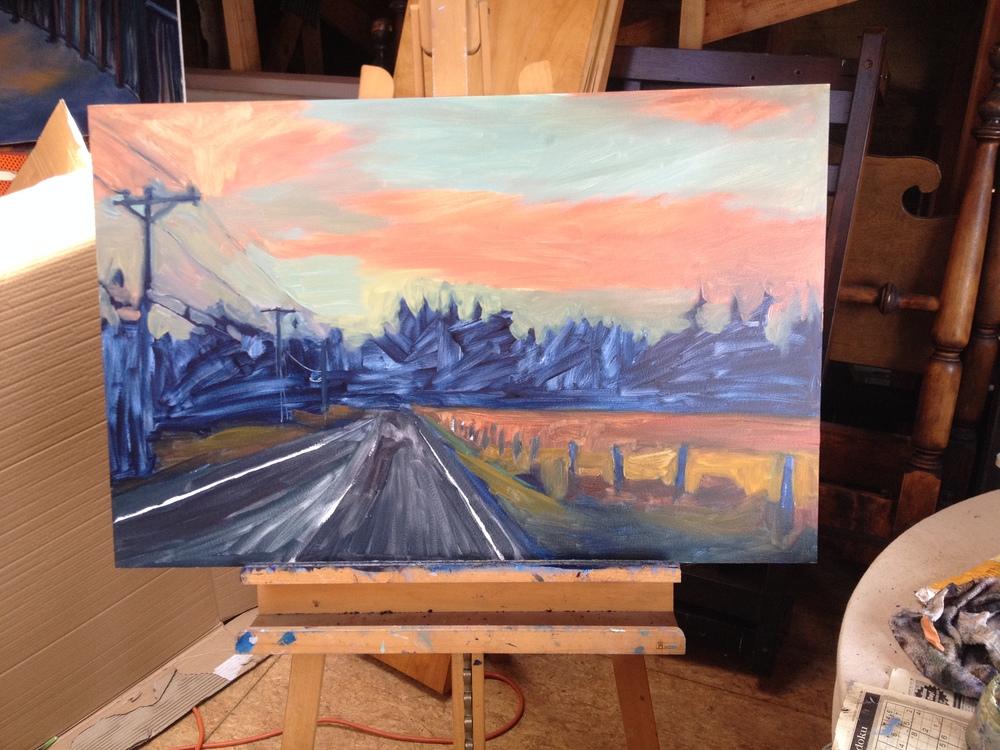 Old Mill Road,  in progress.