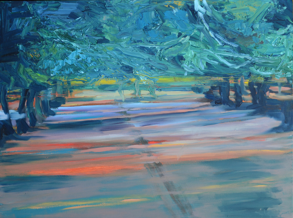 CR31 Orchard Shadows.  2015. Oil on Panel. 18 x 24 inches.