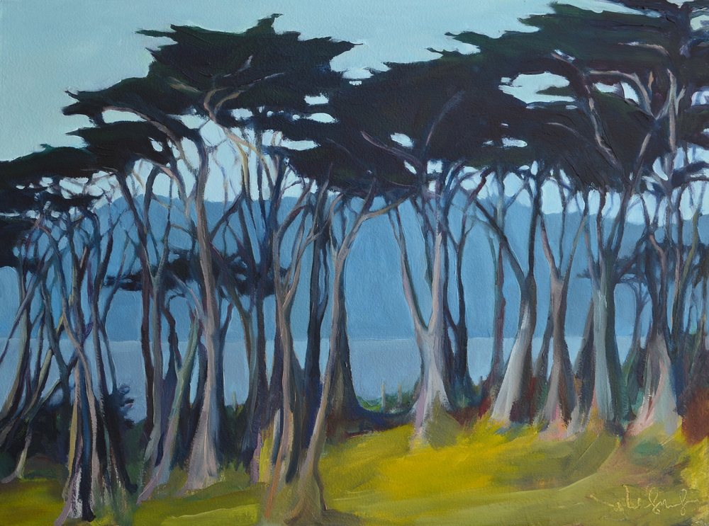 Presidio to Headlands . 2015. Oil on Panel. 18 x 24 inches.