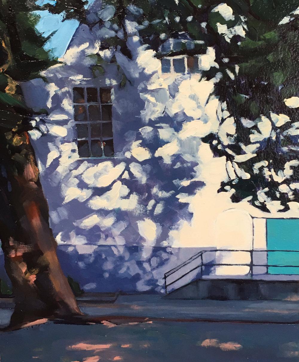 Leaf Shadows, Blue Door