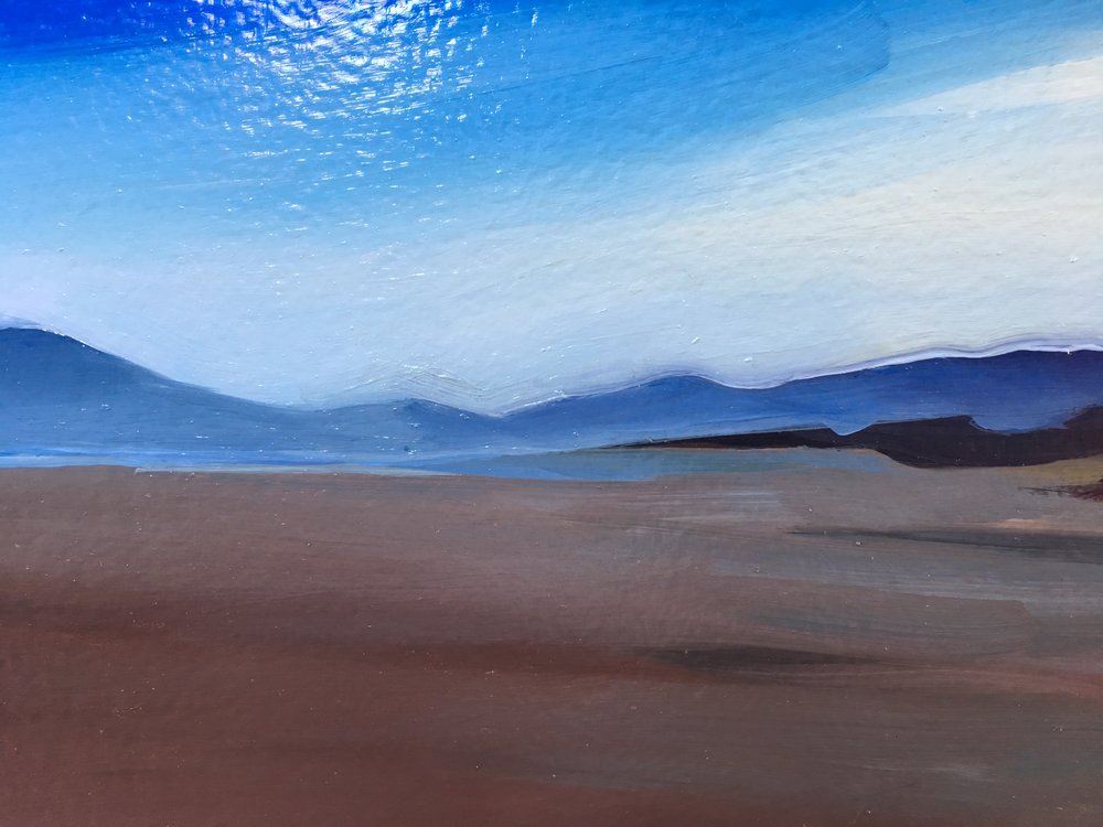 Detail of  Beach, Blue Puddles  in progress