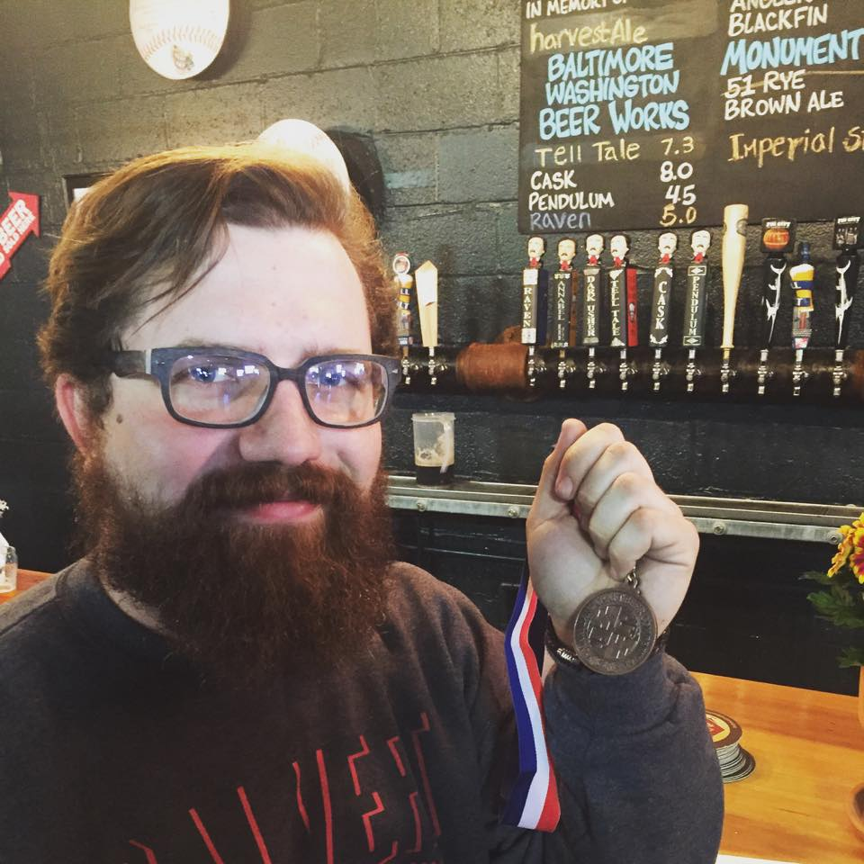 Matt, our brewer, and his shiny jewelry!