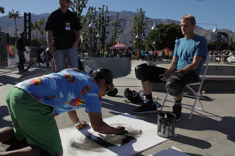 Artist Robert Vargas Draws Legend Tony Hawk