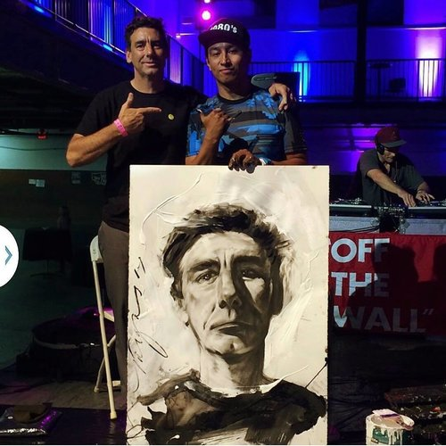 Robert Vargas displays his art at the El Gato Classic