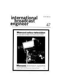 International Broadcast Engineer August 1968