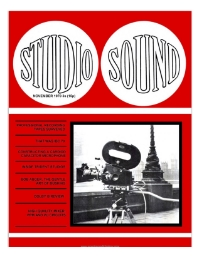 Studio Sound November 1970