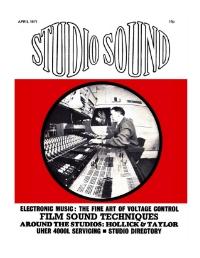 Studio Sound April 1970