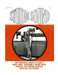 Studio Sound July 1971