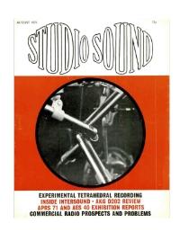 Studio Sound August 1971