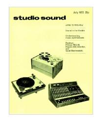 Studio Sound July 1972