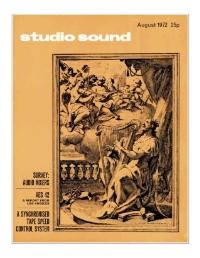 Studio Sound August 1972