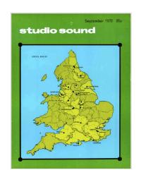 Studio Sound September 1972