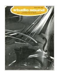 Studio Sound March 1973