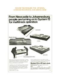 Studio Sound System 12 Advertisement July 1972