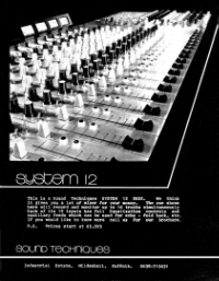 System 12 Advertisement