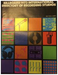 Billboard International Directory of Recording Studios, 1973