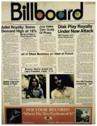 Sunset Sound, Studio 2 Console install Articles, Billboard Magazine 1973 and 1974