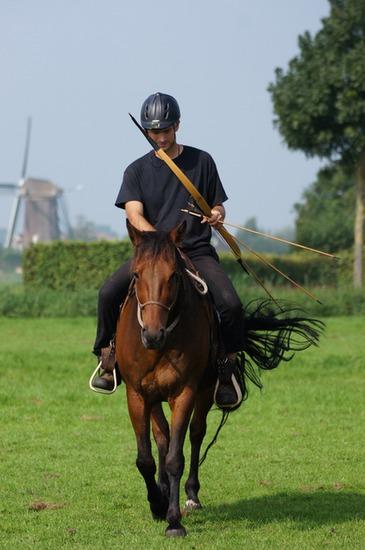 Arno tijdens een training in Rijpwetering op Volare