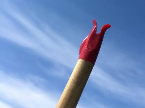Het resultaat: een mooi uitgebogen nokje.