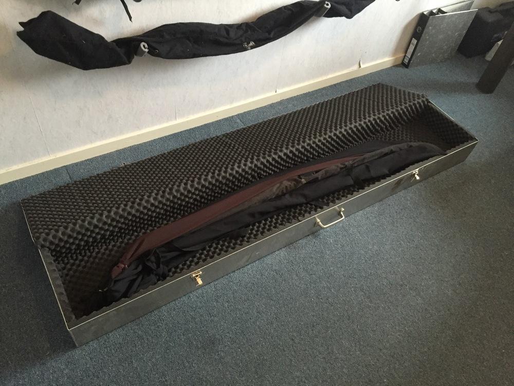 Ook meerdere ruiterbogen passen in de koffer.