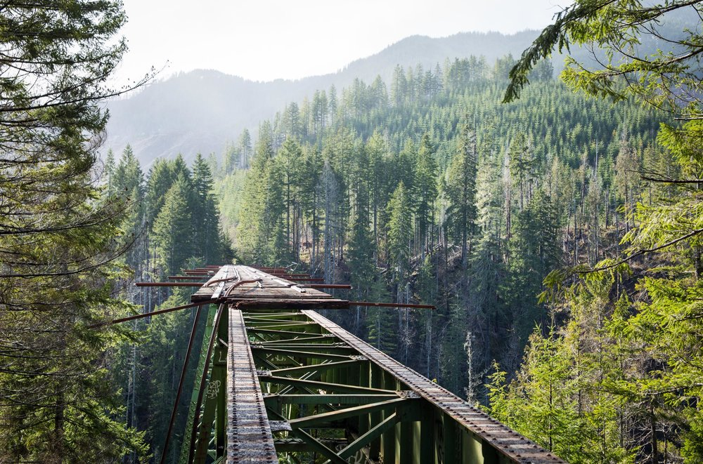 "The Pacific Northwest, more specifically, Vance Creek Bridge, Washington. My friend Eric took me here and challenged me to walk across. I took one look at the drop below and said ""no""."