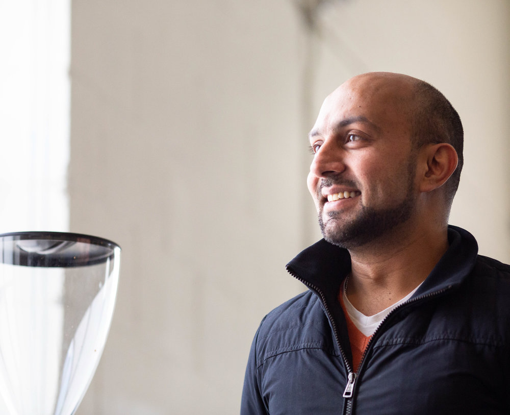 "Sameer Mohamed, 37, Toronto, Fahrenheit Coffee  ""I competed about 15 years ago, that was my first competition, since then rules have changed, methods have changed and so there's been a lot of adaptation, a lot of, I guess the industry as a whole has been steadied."""