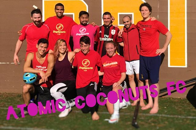 First game of the season! We killed it.  #AtomicCoconuts  #soccergang