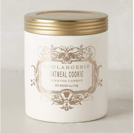 "Boulangerie ""Oatmeal Cookie"" candle: $16"