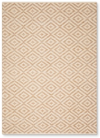 Nate Berkus Cream and Metallic Diamond Area Rug